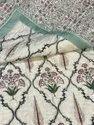 Cotton Handmde Pattern Summer AC Quilt Indian Block Reversible Jaipuri Design