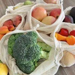 100% Organic Cotton Mesh Drawstring Bag