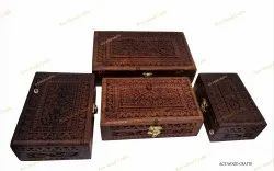 Hoem And Gift Hand Carved Handcrafted Wooden Jewelry Box From Indian Gifts For Home
