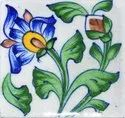 Same As Picture Blue Pottery Tiles, For Home, Thickness: 6 - 8 Mm