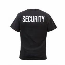 Polo Neck Half Sleeve Men Security T Shirt, Size: Medium