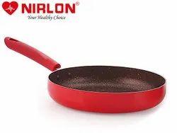 Nirlon Non-Stick Fry Pan Red-Stone Induction Base