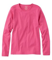 Round Daily Wear Plain Full Sleeve Pink Women T Shirt, Size: Large