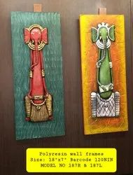 Handpainted Ganesha Wall Frames, For Home, Size: 18 X7