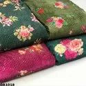 Pure Silk Velvet Prints Fabric With Water Sequins Embroidered