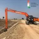 Slope Compactor With Long Boom