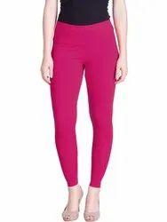 95% Cotton,5% Spandex Plain Lux Lyra Ankle Length Leggings, Size: Free Size