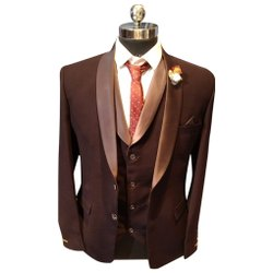 Wedding Maroon 3 Piece Mens Suit