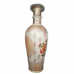 White Marble Pots, For Decoration, Size: 4 Feet