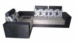 Grey Antique Black 3 Seater Sofa Set, Living Room, 5 Inch