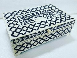 Bone & Resin Marble Inlay Boxes
