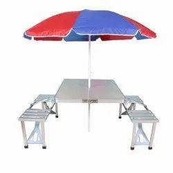 Aluminium   foldable  picnic table