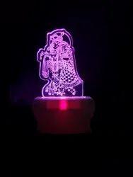 Shayona Radha-krisna Color 3d Illusion Led Acrylic Night Lamp