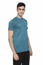Round Multicolor Half Sleeve Sports T Shirts For Men