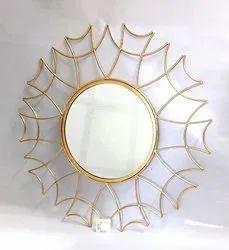 铁和玻璃矩形墙装饰镜子,用于家庭,大小:32x32