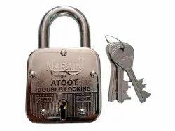 With Key Normal Narain Atoot Stainless Steel Padlock, Padlock Size: 65 mm