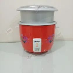 Perfect red Drum Rice Cooker Model No.pt-28rc-21dp, For Home, Capacity: 2.8 Ltr