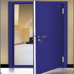 GI Security Door, Size: 1500x2400 Mm