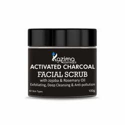 Kazima Activated Charcoal Facial Scrub