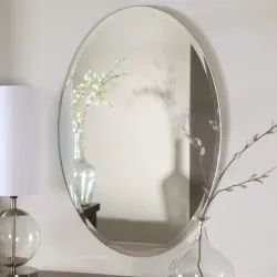 15 Mm Oval Mirror Glass, For Home
