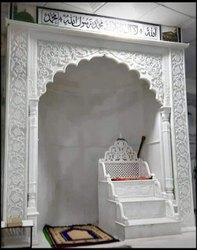 White Marble Stone Mehrab, For Masjid
