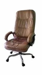 Rexine Brown fabric High Back Executive Chair, For Office