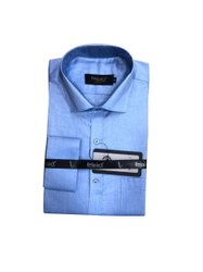 Impact Designer Cotton Mens Light Blue Formal Shirt, Handwash