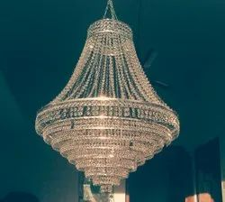 Glass Ceiling Crystal Hanging Chandelier