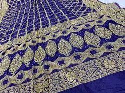 Wedding Wear Pure Gadhwal Silk Sarees, 6.3 m (With Blouse Piece)