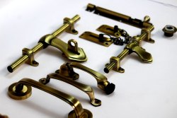 Fancy Brass Door Kit, 14 Inch, Rod Thickness: 12 Mm