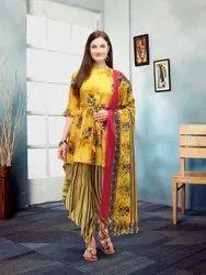 Stitched maltipal Punjabi Dress, Handwash