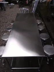Stainless Steel Staff Table And Chair