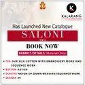 Kalarang Saloni Vol 6 Jam Silk Cotton With Embroidery Work Dress Material Catalog