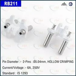 TWO PIN HOOK HOLLOW PLUG INSERT - WHITE