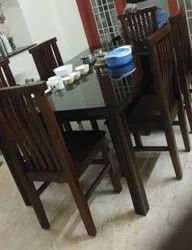 TEAK WOODEN DINING TABLE 6 SEATER