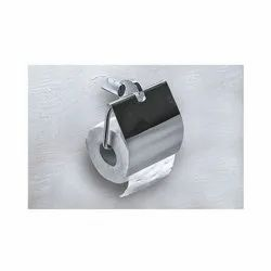 Viking Polished Cp Toilet Paper Holder-Geometrical (with Cover) for Bathroom