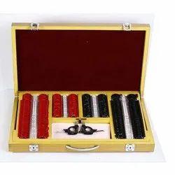 MS65 Trial Lens Set Red Black 226 Lens With Metal Rim Lens Set