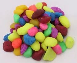 Florocent  Mix Colored small Size Pebble stone