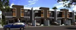 Residential Area Modern Turnkey Row House Construction Contractor