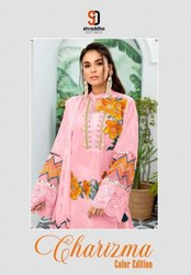 Shraddha Designer Charizma Colur Edition Cambric Cotton With Work Pakistani Suit Catalog
