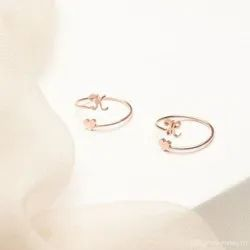 Dainty Initial Heart Ring