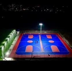 Basketball Court Floor Painting