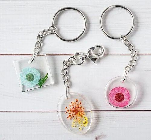Custom LED Keychain in Multicolors in Various Designs