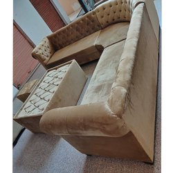 Wooden Brown Modern Sofa Set, For Home, Living Room
