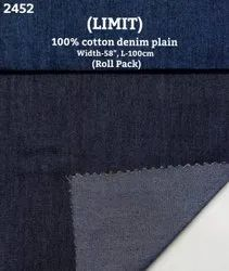 Limit 100% Cotton Denim Print Shirting Fabric