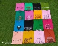 Half Sleeve Round Girls T Shirt