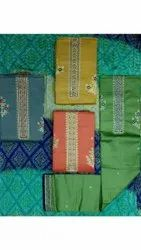 Ladies Cotton Embroidery Suit Fabric
