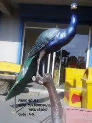 FRP Peacock Statue