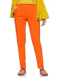 95% Cotton And 5% Spandex Straight Fit Lux Lyra Kurti Pant, Size: Free Size