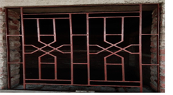 Paint Coated Iron Window Grill, Rectangular
